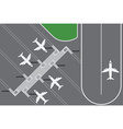 flat design airport buildingwith plans terminal vector image