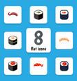 flat icon sushi set of sashimi sushi salmon vector image vector image