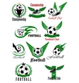 Football and soccer game cions vector image vector image