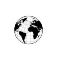 globe icon with map vector image