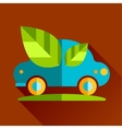 go eco green flat icon vector image vector image
