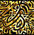 gold tribal seamless texture vector image