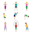 Gymnastics kids set vector image