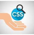 hand optimization technology css language web vector image