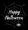 happy halloween stylized lettering vector image vector image