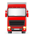 isolated red truck vector image vector image