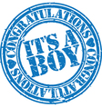 Its a boy stamp vector image