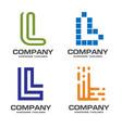 l letter logo design logo set vector image vector image