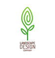 Landscape design logo template Tree with leaves vector image vector image