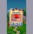 level failed mobile game user interface gui assets vector image vector image