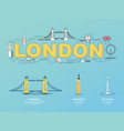 london landmarks icons in england for traveling vector image