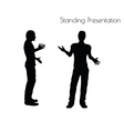 man in Standing Presentation pose on white vector image vector image