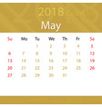 may 2018 calendar popular premium for business vector image vector image