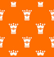 medieval crown pattern seamless vector image vector image