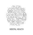 mental health abstract linear concept layout