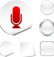 Mic icon vector image