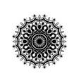 monochrome abstract flower mandala vintage vector image vector image