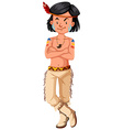 Native american indians man in traditional costume vector image vector image