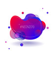 neon fluid color gradient background blue and red vector image