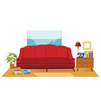 Office Couch Interior vector image vector image