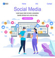 online dating and social networking concept vector image vector image