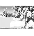 painted winter landscape vector image
