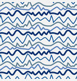 pattern with blue lines hand drawn vector image vector image