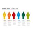 people team infographic template vector image vector image