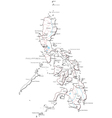 Philippines Black White Map vector image vector image