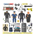 police people policeman and criminal vector image vector image