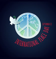 poster for the international peace day vector image vector image