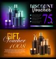 premium beauty discount gift vector image vector image