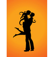 romantic couple vector image vector image