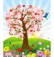 romantic tree vector image vector image