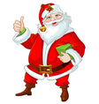Santa Claus with gift for you vector image vector image