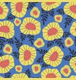 scandinavian retro flower background seamless vector image