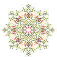 seamless colorful pattern with mandala vintage vector image vector image