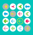 set of 16 left arrow icons arrow buttons on vector image