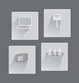 Set with Business Flat Icons vector image vector image