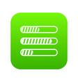 sign horizontal columns load icon digital green vector image vector image