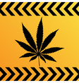 sign of marijuana vector image