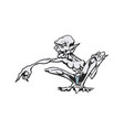 skinny cartoon monsters cartoon character vector image