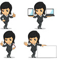 Smiling Businesswoman Mascot in Various Poses vector image vector image