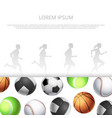 sport fitness banner template wit realistic vector image vector image