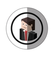 sticker lego with portrait man with formal suit vector image vector image