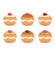 Sufganiyot set Jewish donut set Jewish vector image vector image