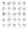 super food icons berries nuts beans ingredients vector image vector image