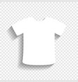 t-shirt sign white icon with soft shadow vector image vector image