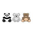 teddy animals vector image vector image