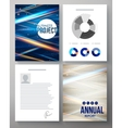 template for a business project and report vector image